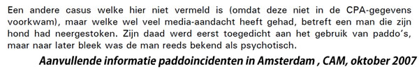 Geen paddo incident!
